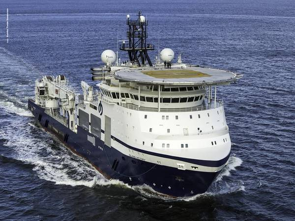Island Victory was christened at a ceremony at Vard Langsten on the 7th of February 2020. Photo: Gunder Tande Sandersen - Image source: Island Offshore