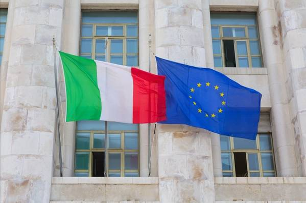 Italy and EU Flags - Image by Adam Wasilewski - AdobeStock
