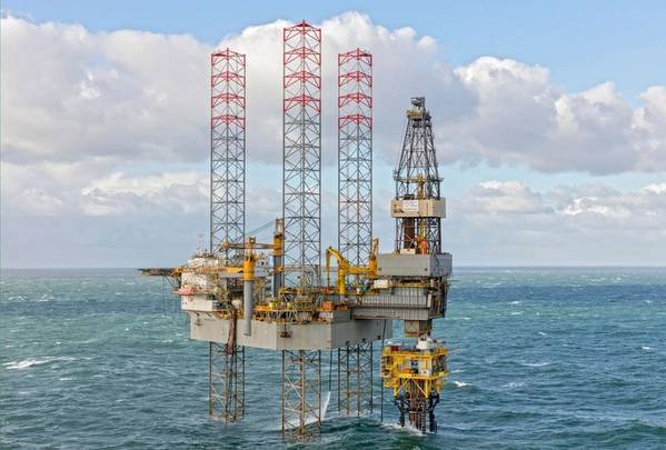 A Jack-Up Rig next to Q10A platform in the Dutch North Sea - (File Photo: Tulip Oil)