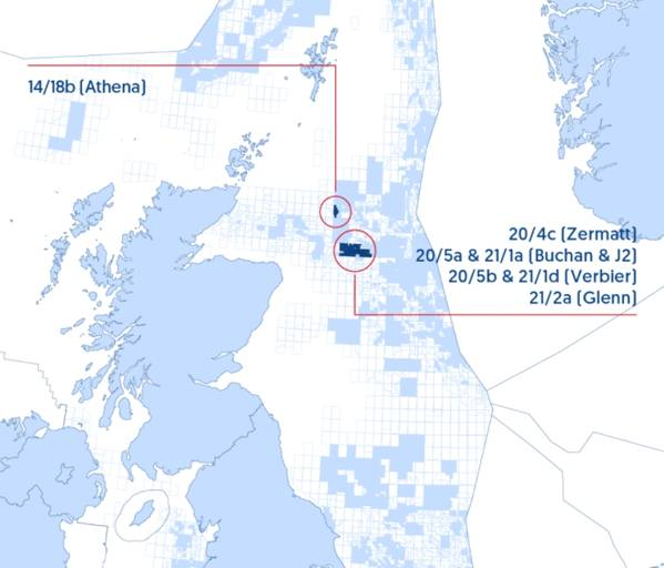 Jersey Oil and Gas' UKCS assets - Credit: JOG