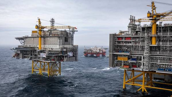 The Johan Sverdrup field in the North Sea (Photo: Equinor)