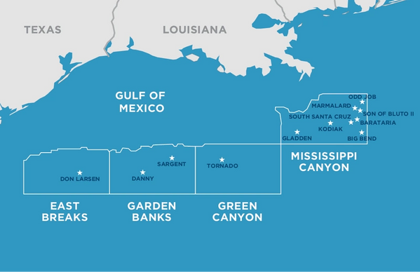 Kosmos Energy's Gulf of Mexico assets in production - Credit: Kosmos Energy