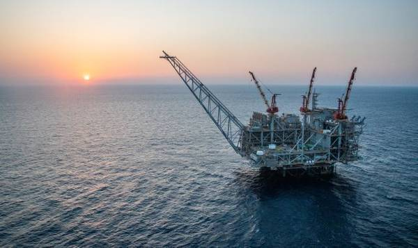 Leviathan platform in the Mediterranean Sea, Offshore Israel - Credit: Noble Energy