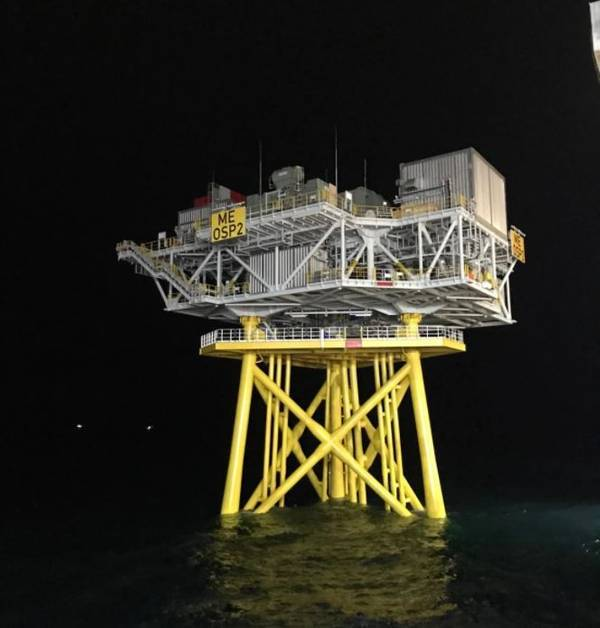 Moray Firth substation recently installed by Deme Offshore / Image Credit: Deme Offshore