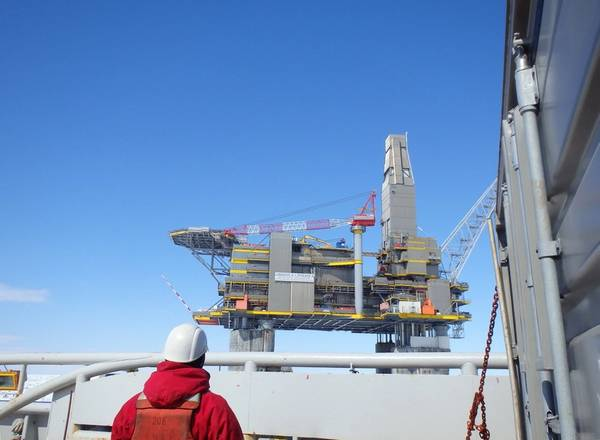 Most of natural gas is produced by the company at the LUN-A platform in the Lunskoye field, north of Sakhalin - Credit: Sakhalin Energy