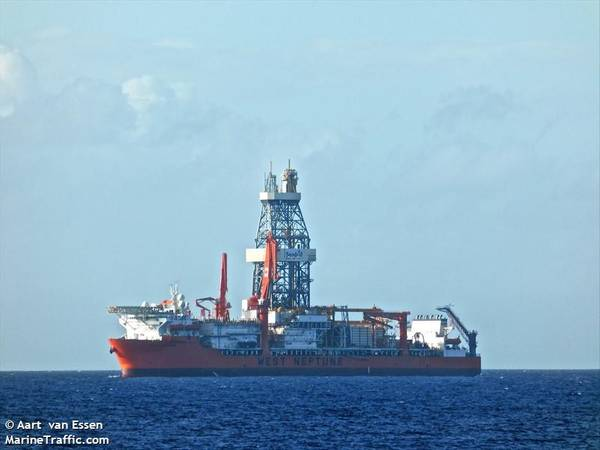 West Neptune drillship -Image Credit: Aart van Essen/MarineTraffic
