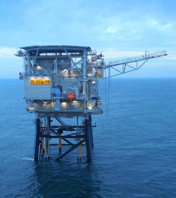 Neptune Energy-operated Q13a-A platform / Credit; Neptune Energy