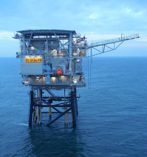 Neptune Energy's Q13a offshore platform, part of the PosHYdon project - Credit: Neptune Energy