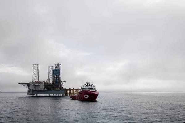 Noble Loyd Noble drilling rig on the Mariner Field - Credit: Jamie Baikie - Equinor