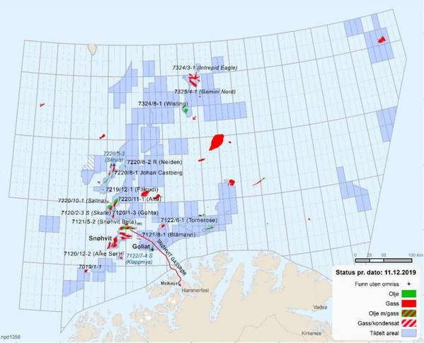 Norwegian Barents Sea assets / Image from Gassco report