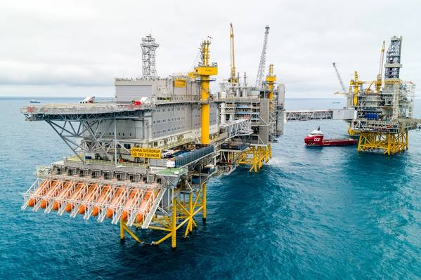 Norwegian giant: Production from the large Johan Sverdrup oilfield began ahead of schedule, helping to lift Norway's October output. (Photo: Espen Rønnevik/Øyvind Gravås, Equinor)
