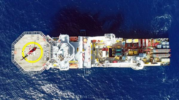 Oceaneering's Ocean Evolution with a well stimulation spread onboard (Photo: Oceaneering)