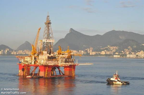 An Ocyan offshore drilling rig - Image: MarineTraffic