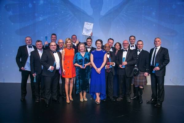Offshore Achievement Award winners with Rachel Riley (Photo: SPE)