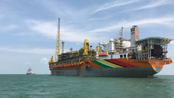Liza FPSO offshore Guyana started producing oil in December 2019 - Credit: Hess