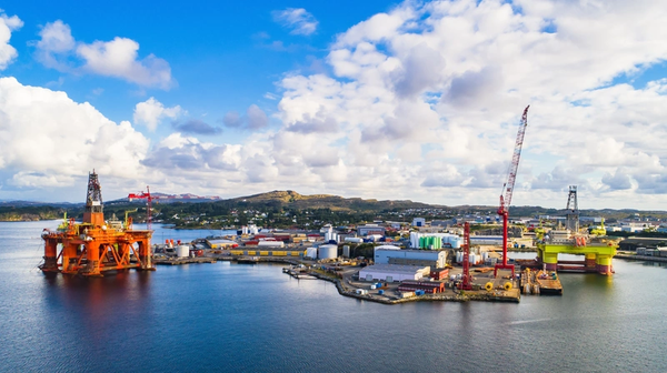 Offshore rigs at a base in Norway - Image credit: Mariusltu/AdobeStock