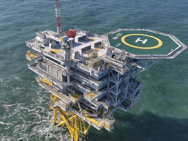 Offshore substation at Hornsea 1 Offshore Wind Farm