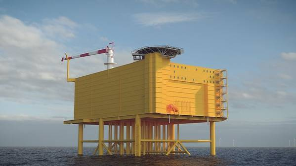 An offshore wind substation illustration (File Photo: TenneT)