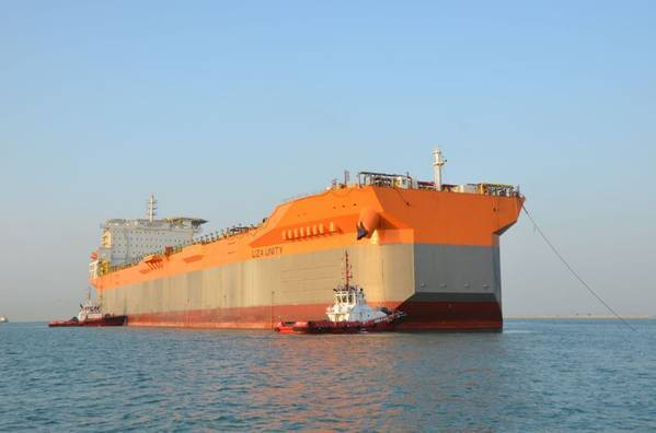 SBM Offshore's first Fast4Ward hull arrives at Keppel yard in Singapore from China. Photo credit Lim Weixiang