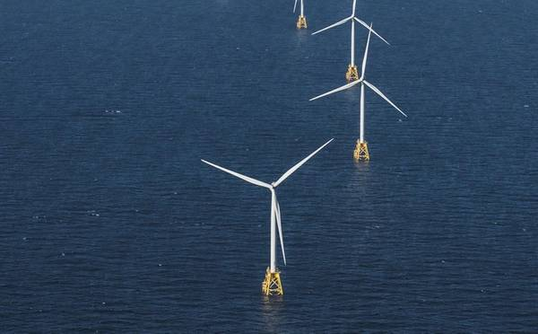 Orsted Block Island US offshore wind farm: Copyright Ørsted