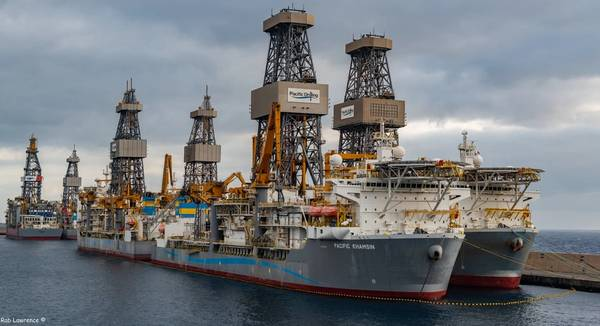 Pacific Drilling drillships - Credit: Rab Lawrence/Flickr under CC BY 2.0 license