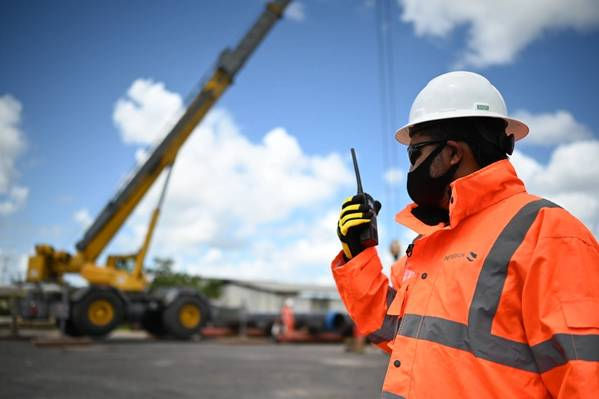 Peterson staff member working at the operations facility in Trinidad and Tobago / Credit: Peterson