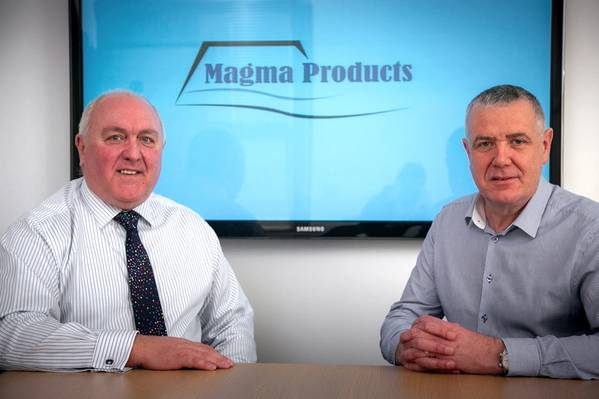 From left, Philip Tweedy, managing director of Magma Products, and Stephen Potts, the newly-appointed shutdown director at Magma Products (Photo: Magma Products)