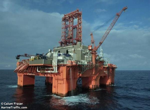 The West Phoenix offshore drilling rig - Image by Calum Fraser / MarineTraffic