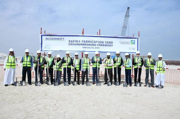 Photo from the groundbreaking ceremony for the SAFIRA yard in February 2020 - File image: McDermott