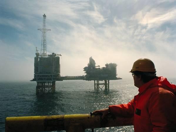 A BP Platform in the North Sea - Credit: BP