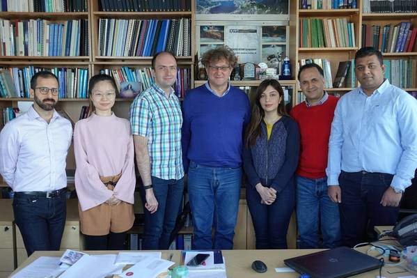Professor Marian Wiercigroch, Director of CADR, is pictured (centre) with members of the CADR team. (Photo: OGIC)