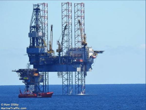 Prospector 5 drilling rig - Image by Huw Gibby - MarineTraffic