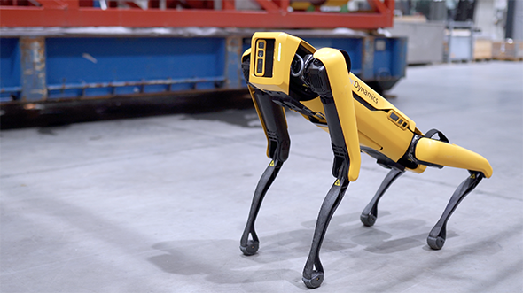 Spot, the quadruped robot developed by Boston Dynamics, is one of the technologies slated to be tested on Skarv. (Photo: Aker BP)