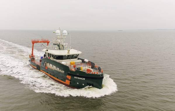 Geo Ranger during sea trials - Credit: Royal Niestern Sander