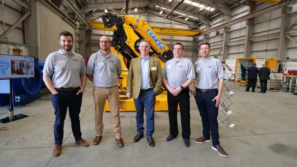 Left to right: Tom Murdoch, Brimmond Group Engineering Director; Alan Glennie, Brimmond Group Technical Director; Colin Clark MP; Stewart Findlay, Brimmond Group Operations Director; and Steven Simpson, Brimmond Group BD Manager (Photo: Brimmond Group)