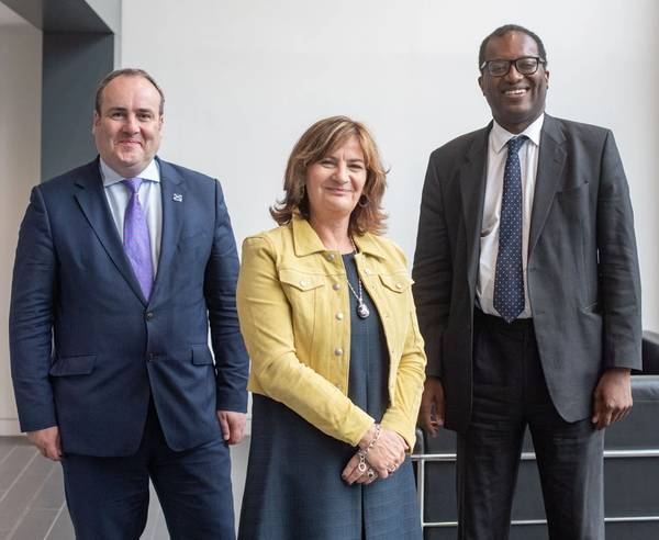 Left to right: Paul Wheelhouse Colette Cohen and Kwasi Kwarteng (Photo: OGTC)