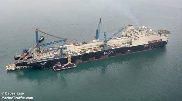 Saipem's Castorone vessel - Image: Badea Laur/MarineTraffic.com