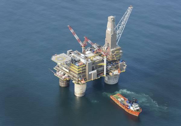 Sakhalin Energy's Lunskoye-A offshore platform - Credit: Sakhalin Energy