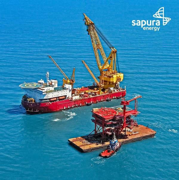 Sapura 3500 with Hokchi satellite platform - Credit: Sapura Energy