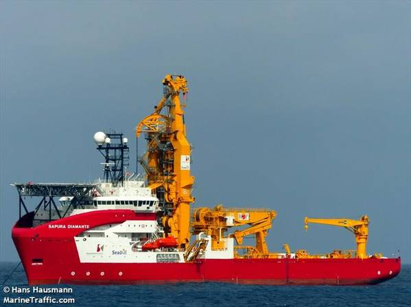 Sapura Navegacao Maritima's vessel Sapura Diamante - Credit: Hans Hausmann/MarineTraffic.com