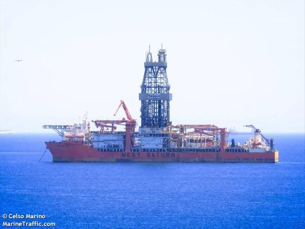 West Saturn Drillship/Credit: Celso Marino/MarineTraffic.com