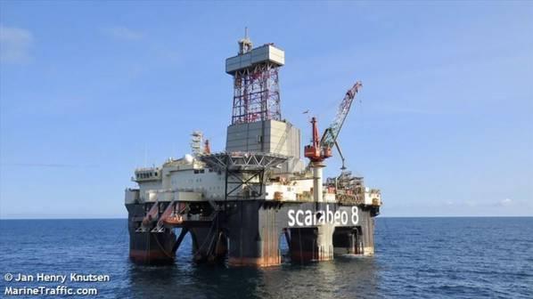 Scarabeo 8 drilling rig - Image by Jan Henry Knutsen - MarineTraffic