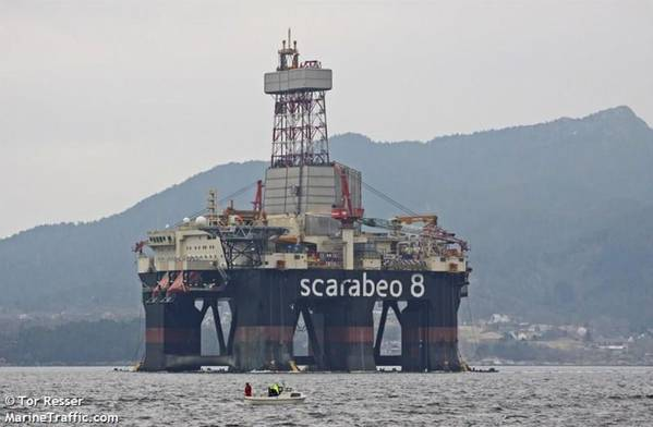 Scarabeo 8 drilling rig - Image by Tor Resser - Marine Traffic
