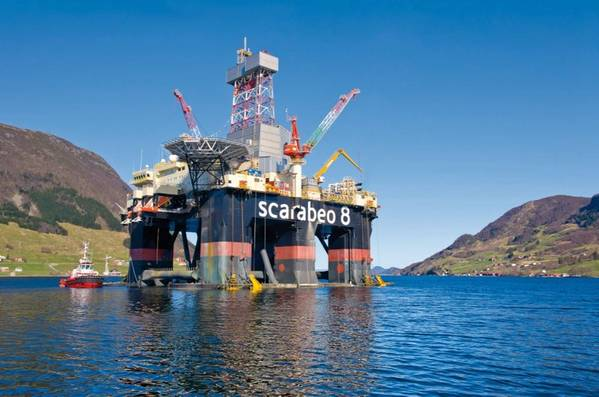 Scarabeo 8 semi-submersible drilling rig, Image Credit: Wintershall Dea
