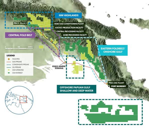 Oil Search's exploration acreage in PNG - Credit: Oil Search