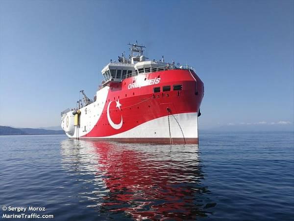 Oruc Reis seismic vessel - Credit: Sergey Moroz