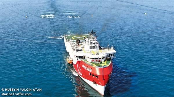 Oruc Reis seismic vessel - Image by HUSEYIN YALCIN ATAN/MarineTraffic.com