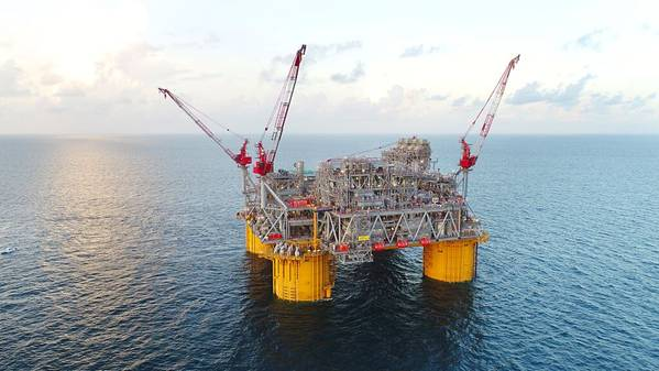 The Shell Appomattox deep-water platform in the U.S. Gulf of Mexico - Credit:Allison Smith/Photographic Services, Shell International Limited.