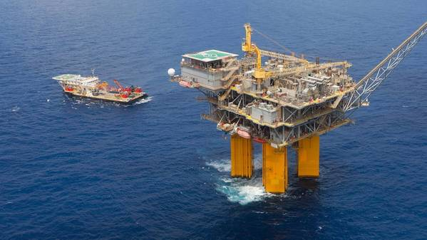BHP's Shenzi platform in the Gulf of Mexico - Credit; BHP