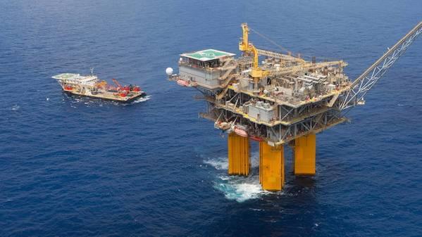 BHP's Shenzi platform in the Gulf of Mexico - Credit: BHP